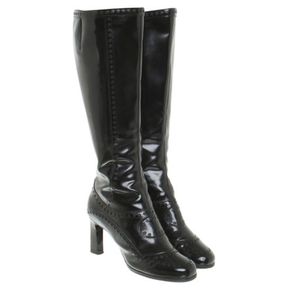 Armani Leather boots in black