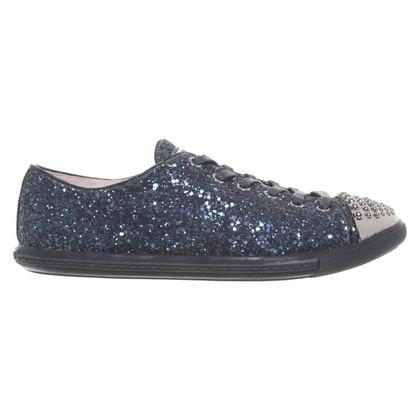 Miu Miu Lace-up shoes with application
