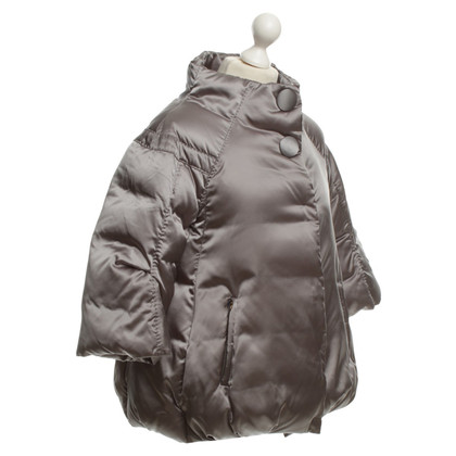 Moncler Feather Cape in Gray