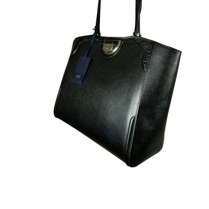 Roberto Cavalli Shopper in black leather