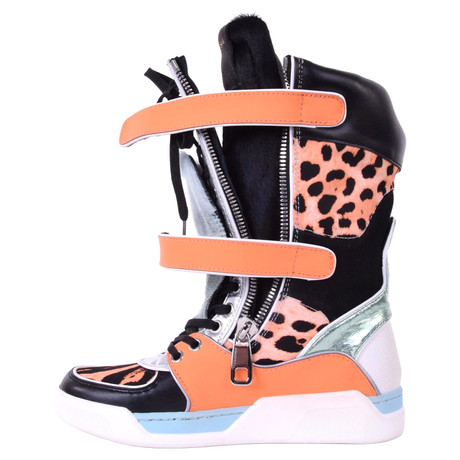 Dolce & Gabbana Stiefel im Sneakers-Look Bunt / Muster
