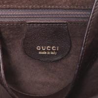 Gucci Sac à main en cuir marron