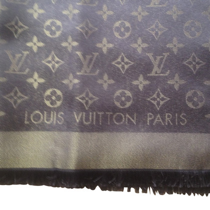 Louis Vuitton Monogram Shawl Brown Gold Shine