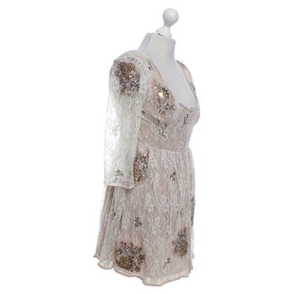 Topshop Kanten jurk in cream