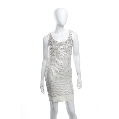 Jenny Packham Sequin Dress In Cream White Second Hand Jenny