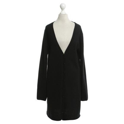 Dear Cashmere Knitted coat in black