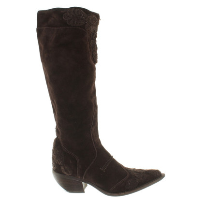 Ermanno Scervino Boots in dark brown