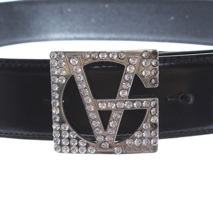 Gianni Versace Leather belt with decorative buckle