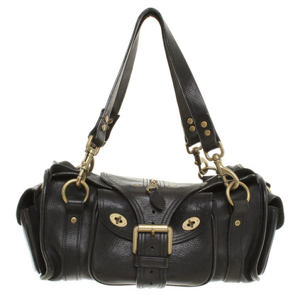Mulberry Leather handbag in grey/black