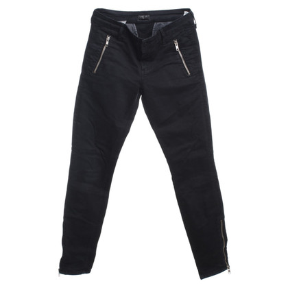 Mother Skinny pantaloni con zip