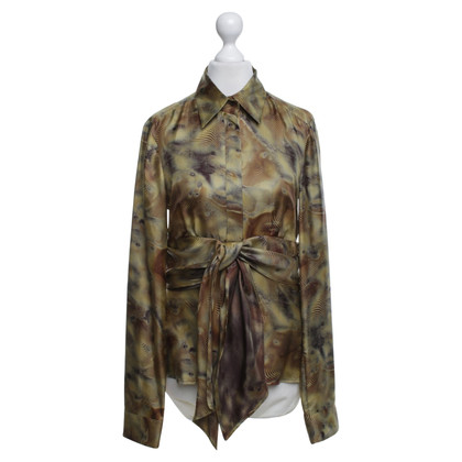 Hugo Boss Silk blouse with pattern
