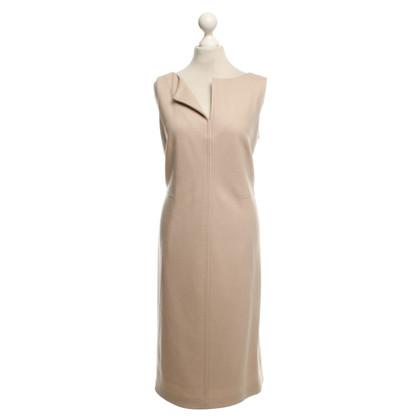 Max Mara Wollen jurk in nude