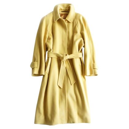Burberry Cappotto lungo in giallo