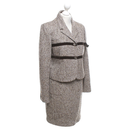 Valentino Costume with herringbone pattern