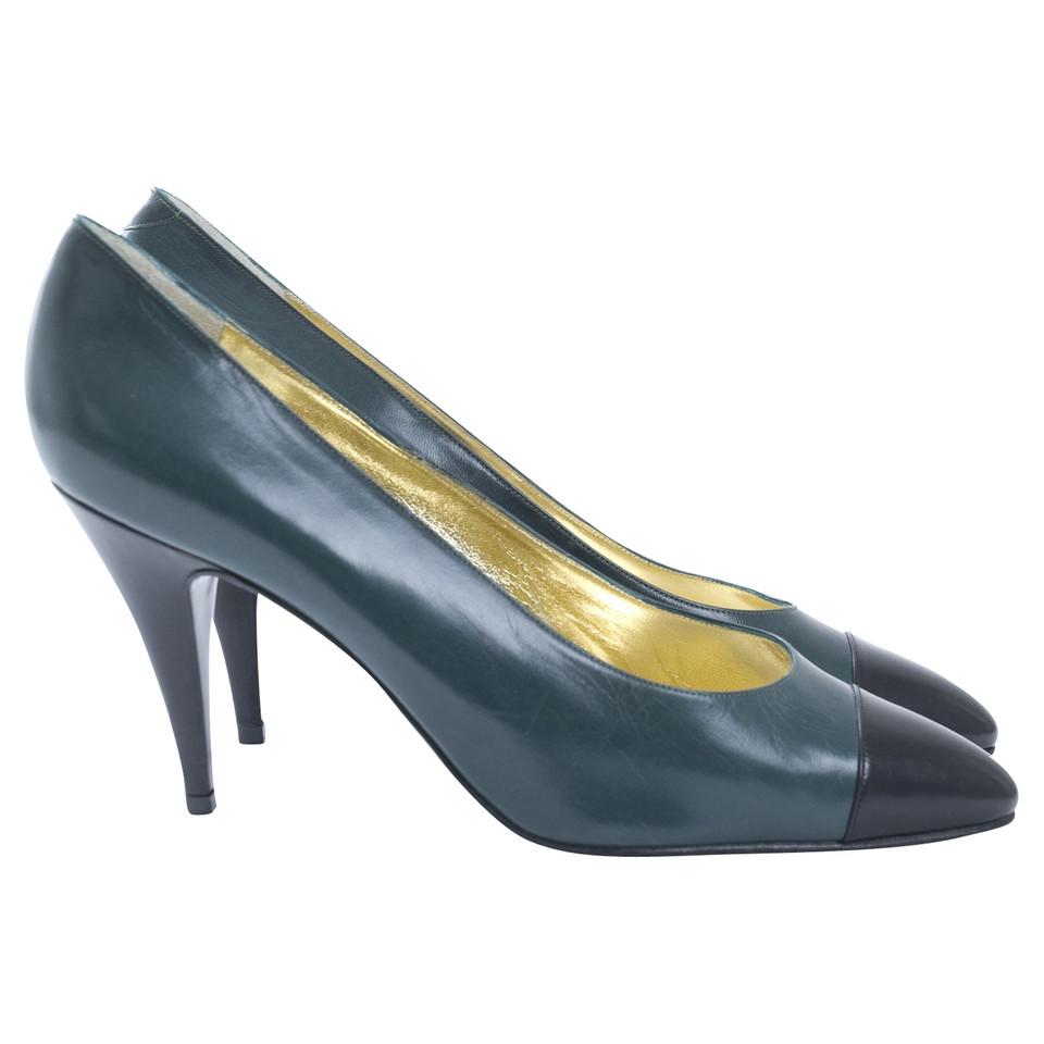 René Caovilla pumps in groen/zwart