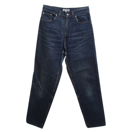 Yves Saint Laurent Cropped jeans in blue