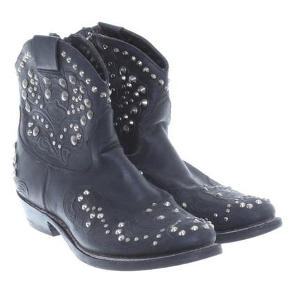 Ash Lederen Biker-laarzen