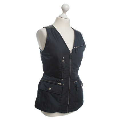 Prada Drops sleeveless Cardigan in dark blue