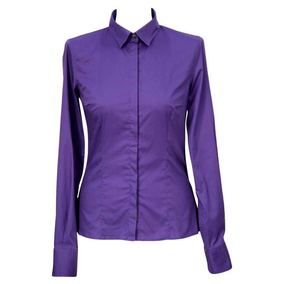 calvin klein hemd in violett second hand calvin klein. Black Bedroom Furniture Sets. Home Design Ideas