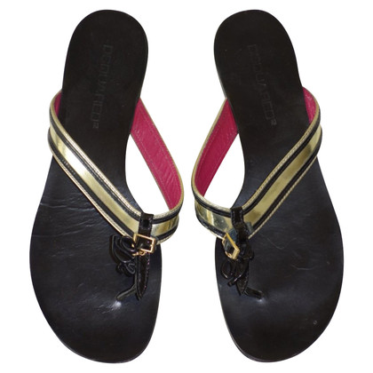 Dsquared2 Flip Flops Leather