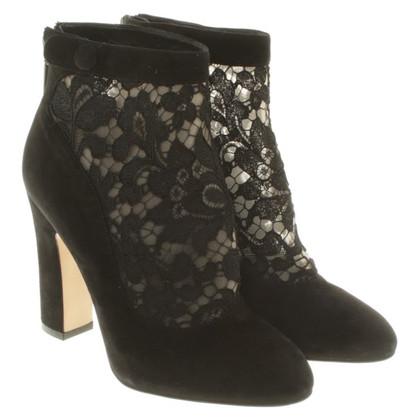 Dolce & Gabbana Leren laarzen in zwart