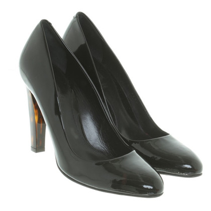 Bally Black patent leather pumps