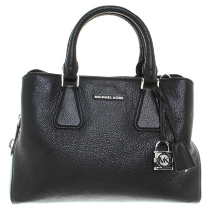 Michael Kors Camille MD Satchel Bag Leather Black