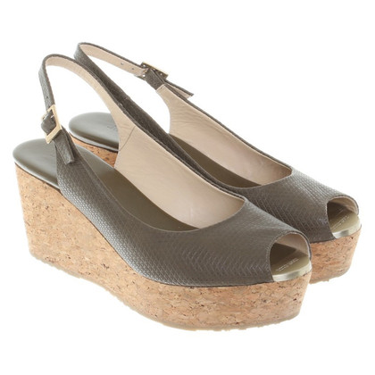 Jimmy Choo Wedges in kaki groen