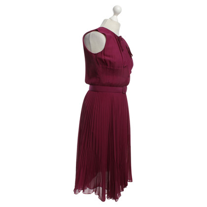 Escada Plissee-Kleid in Fuchsia