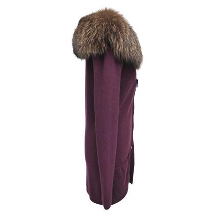 Christian Dior Cardigan mit Fuchsfellkragen