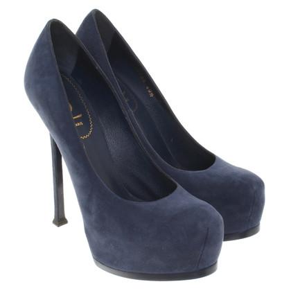 Yves Saint Laurent Plateau stilettos in blue