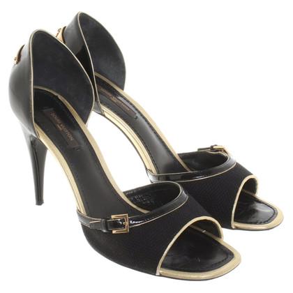 Louis Vuitton Sandaletten in Schwarz/Gold