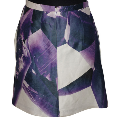 Carven Silk skirt with print