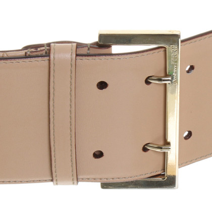 Ferre Beige leather belt