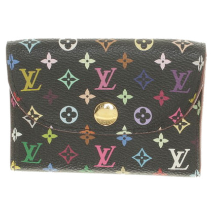 Louis Vuitton Geldbörse in Monogram Multicolore Canvas Noir