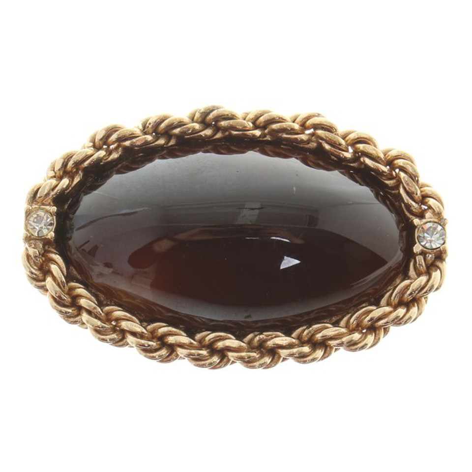 Christian Dior Brooch with stone insert