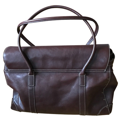 Ralph Lauren Borsa in pelle marrone scuro