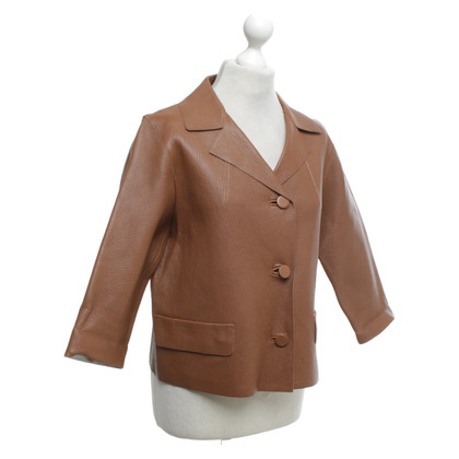 Marni Leather jacket in brown