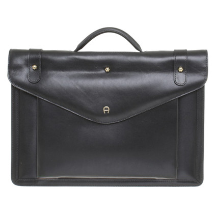 Aigner Leather handbag in black
