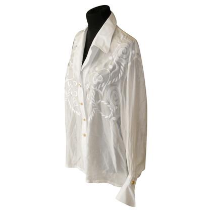 Escada Couture zijden blouse met borduursel