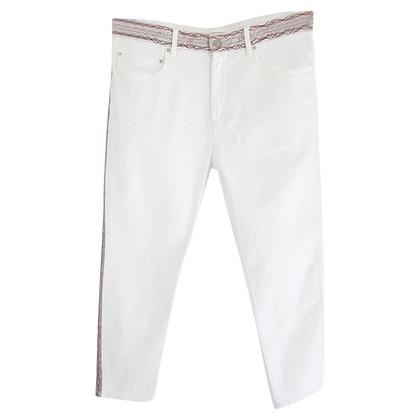 Isabel Marant Etoile Witte spijkerbroek met borduurwerk