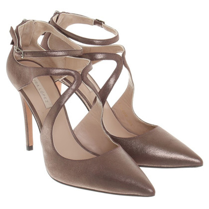 Pura Lopez pumps en bronze métallique