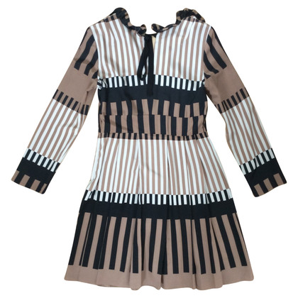 Marni Silk dress with stripe pattern