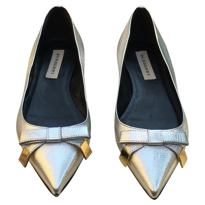 Burberry Ballerinas in Silber