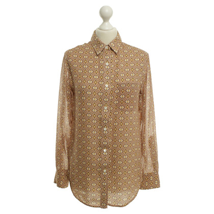 Theory Silk blouse with floral pattern