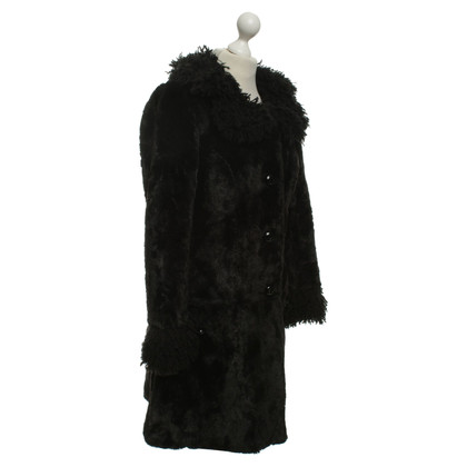 Anna Sui Coat of woven fur