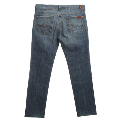 "7 For All Mankind ""Straight Leg"" Jeans dans le bleu"
