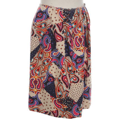 Miu Miu Issued virgin wool skirt