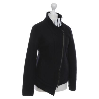 Y-3 giacca di lana in stile motociclista