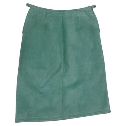 Hermès suede skirt